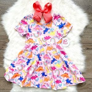 Girl Boutique Pink Dino Dress